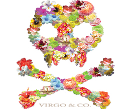 flowered skull-tshirt